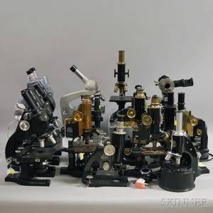 Group of Microscopes and Accessories