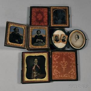 Four Cases with Nine Photographic Portraits