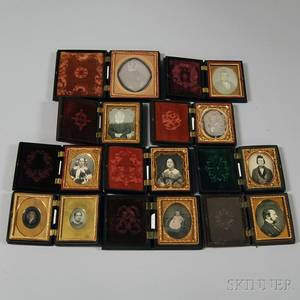 Ten Union Cases with Eleven Daguerreotype Portraits