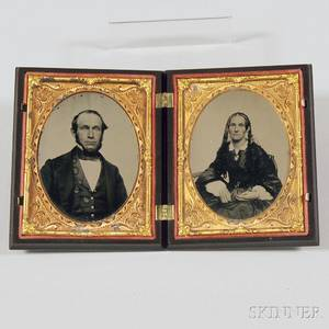 Quarterplate Ambrotype Portraits of a Husband and Wife