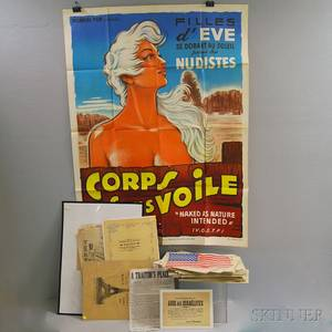 Group of Assorted Printed Broadsides and a Group of French Movie Posters