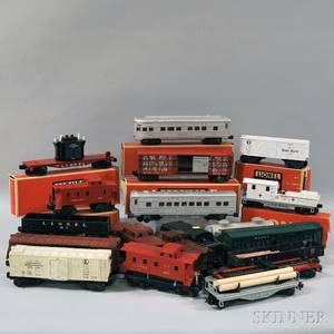 Fortyone Lionel O Gauge Engines and Cars