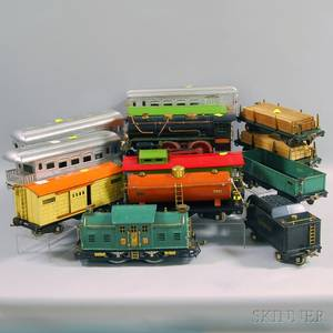 Thirteen Lionel Standard Gauge Engines and Cars