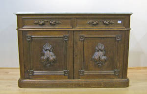 Victorian marble top sideboard