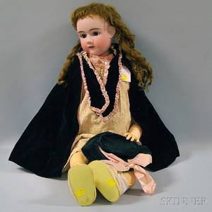 Very Large Heinrich Handwerck Bisque Head Doll