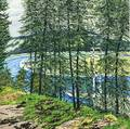 Neil Welliver American 19292005 Synthetic Blue  St John