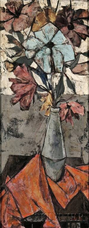 Charles Levier French 19202004 Floral Still Life