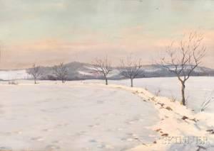 Continental School 20th Century Winter Landscape