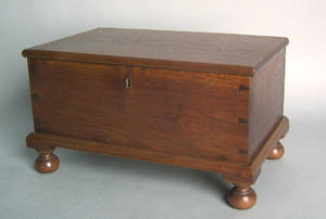 Pennsylvania walnut miniature blanket chest 19th c