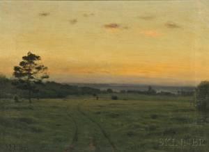 Charles Harold Davis American 18561933 Shepherd with Flock at Twilight