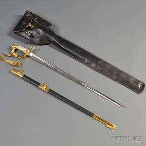 Naval Dress Sword and Case