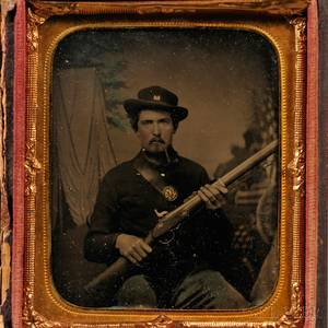 Sixthplate Tintype Portrait of a Union Soldier