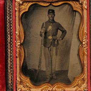 Quarterplate Tintype Portrait of a Corporal
