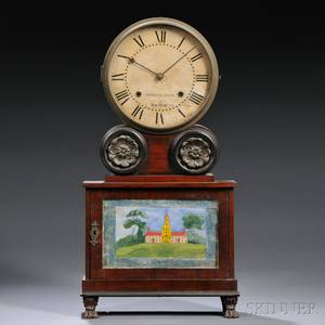 Mahogany Brooklyn Lever Spring Shelf Clock by Joseph Ives
