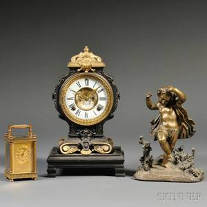 Ansonia Mantel Clock and French Carriage Clock