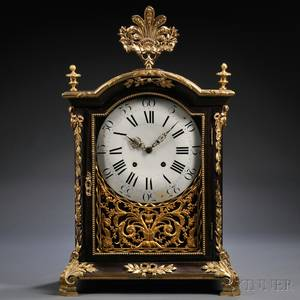 Rosewood and Giltbrass Table Clock