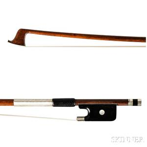 Nickelmounted Violin Bow Dominique Poirsin