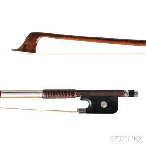 French Silvermounted Violoncello Bow Dominique Poirsin c 1880