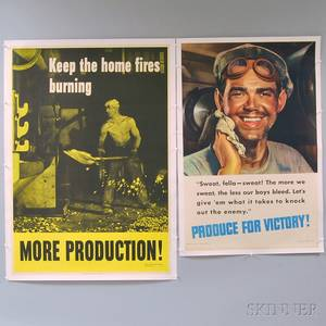 Two US WWII War Effort Posters