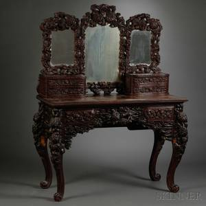 Export Wood Carved Dressing Table