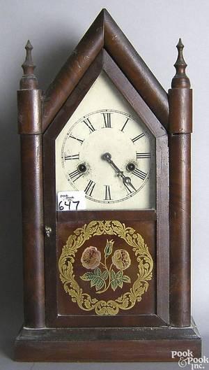 Connecticut Empire mahogany mantle clock
