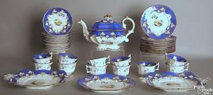 English or German porcelain tea service