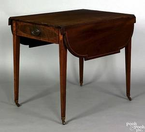 Mid Atlantic States Hepplewhite mahogany pembroke table ca 1795