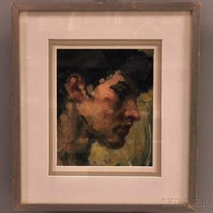 David Wu JectKey ChineseAmerican 18901968 Profile Head of a Man