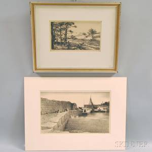 Stow Wengenroth American 19061978 Two Lithographs Including Granite Pier
