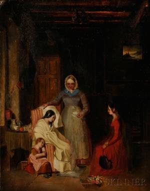 Attributed to George Alexander British 19th Century The Convalescent