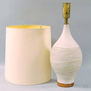 Modern Glazed Art Pottery Table Lamp