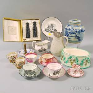 Group of Mostly English Pottery Items