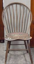 Set of Three Windsor BambooTurned Rodback Side Chairs