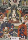 Eight Framed Asian Paintings Prints and Artwork and an Asian Carved and Painted Wooden Mask