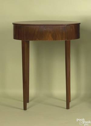 Mid Atlantic Federal mahogany work table ca 1810
