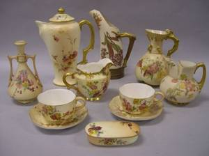 Ten Pieces of Royal Worcester Floral Decorated Porcelain Tableware