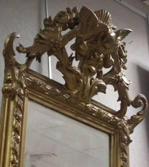 Victorian Rococo Revival Gilt Gesso Mirror