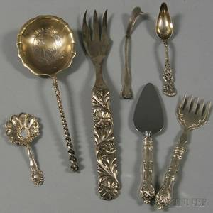 Seven Pieces of American Silver Flatware