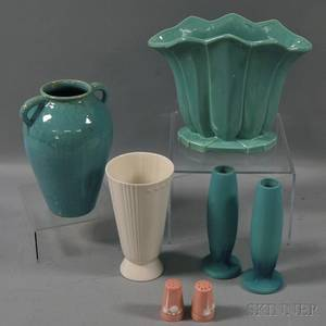 Seven Pieces of Art Pottery