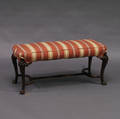 Upholstered Queen Annestyle Mahogany Bench