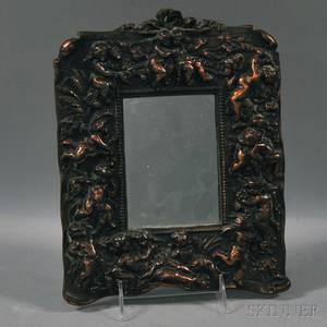 Bronzed Castiron Mirror