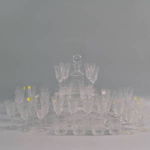 Fortytwo Pieces of Baccarat Stemware