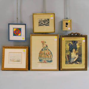 Six Assorted Framed Works