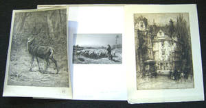Two Rosa Bonheur pencil signed engravings