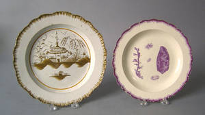 Two English creamware plates early 19th c