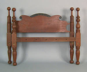 Pennsylvania carved and painted rope bed 19th c