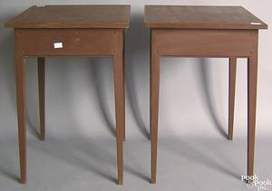 Pair of contemporary painted end tables