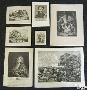 Group of 37 18th19th c prints to include religious themes