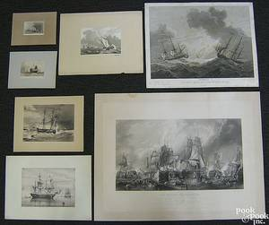 Group of nautical themed engravings to include 4 by Boydell
