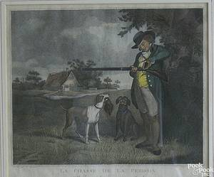Two French color lithographs after F Weatly